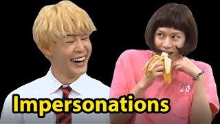 "Funny Kpop Idols ""Impersonating"" Other Idols"