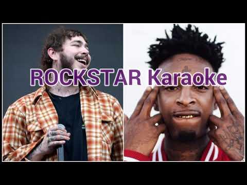 ROCKSTAR KARAOKE - Post malone Ft. 21 Savage (with lyrics)