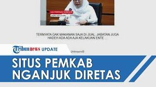 Situs Pemkab Nganjuk Diretas, Bertuliskan Nada Sindiran: 'Gak Makanan Saja Dijual, Jabatan Juga'