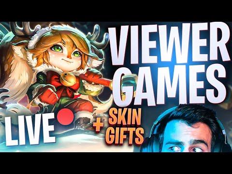 ΣΗΜΕΡΑ ΕΧΟΥΜΕ VIEWER GAMES + Δώρα Skins  - League of Legends LIVE