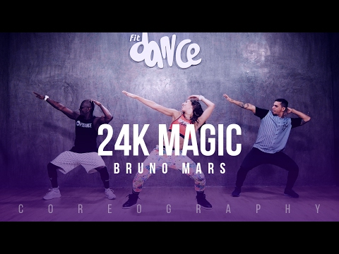 24K Magic - Bruno Mars - Choreography - FitDance Life Mp3