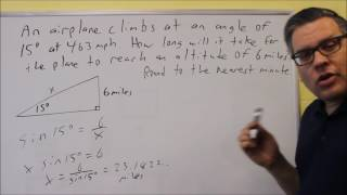 Airplane Climb Application With Right Triangles In Trigonometry
