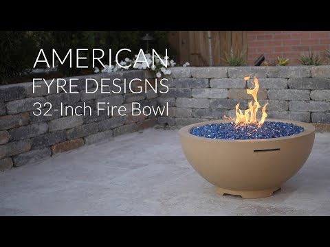 American Fyre Designs 32-Inch Fire Bowl - Smoke