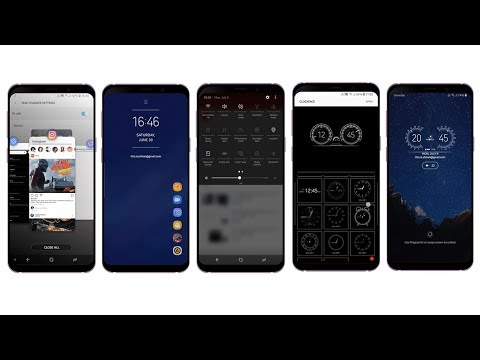 Samsung One UI For Galaxy Note9/8 S9 S8 S7 S6 - Dark THEME V5 SETUP