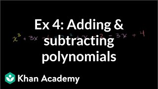 Adding and Subtracting Polynomials 3