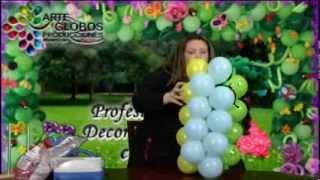 Columna o Guirnalda Fantasia o de trios. Balloon Course. Fiesta Infantiles