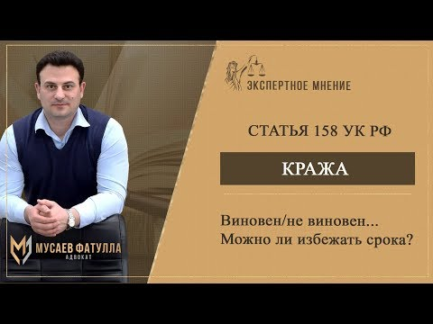 Статья 158 УК РФ - Кража