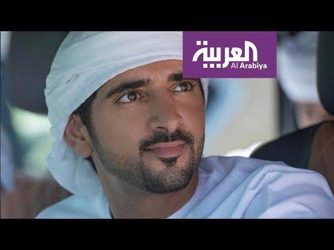 العرب اليوم - شاهد: إبل تلاطف ولي عهد دبي في فيديو طريف