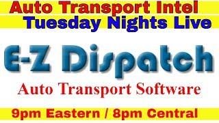 E-Z Dispatch Auto Transport Software EZ Fleet Dispatcher TMS Dashboard