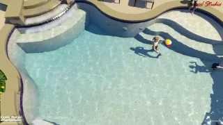 Custom Swimming Pool for the Ott family.