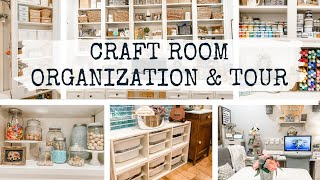 15 Craft Room Organization Ideas  |  Craft Room Tour