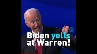 Watch When Joe Biden Yells at Elizabeth Warren