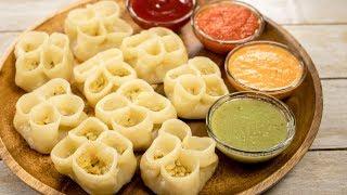 Open Momos Recipe | Kathmandu Style Gangri Sumai Restaurant Momo Recipe