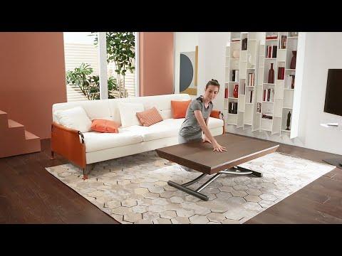 Transformable coffee table LEONARDO by Ozzio - Tavolino trasformabile multifunzione
