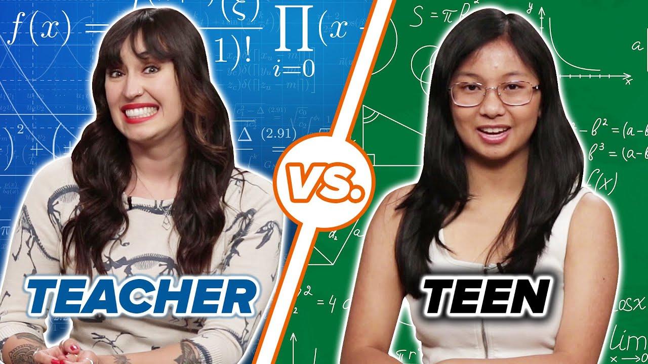Teachers & Teens Take A High School Math Test thumbnail
