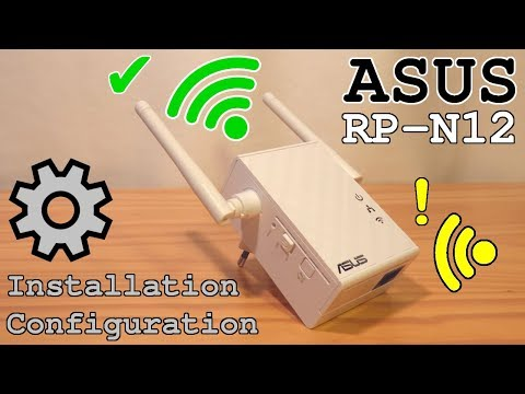 ASUS Wi-Fi Extender RP-N12 • Unboxing Installation Configuration