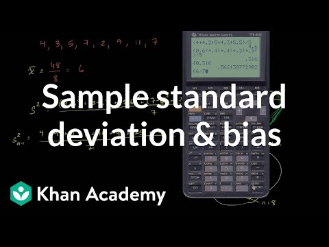 Sample standard deviation and bias (video) | Khan Academy