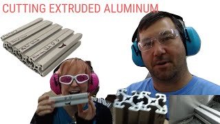 How to Cut Extruded Aluminum Profiles.  Are Aluminum Cutting Blades Worth It?Miter Saw or Band Saw
