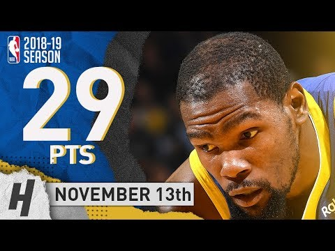Kevin Durant Full Highlights Warriors vs Hawks 2018.11.13 - 29 Pts, 3 Ast, 6 Rebounds!