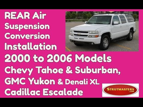 Rear Air Shock Conversion Installation For The 2000-2006 GMC Yukon By Strutmasters