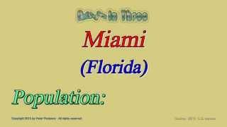 Miami Florida Population in 2010 - Digits in Three