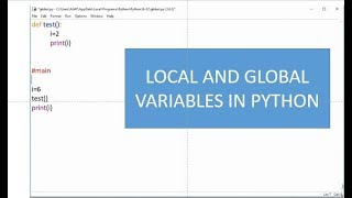 Local and Global variables in python