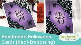 Handmade Halloween Cards (Heat-Embossing)