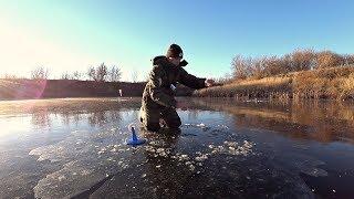 ПЕРВЫЙ ЛЁД! Рыбалка на жерлицы. Неожиданная находка подо льдом!
