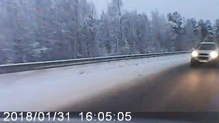 Вытолкнул на встречную полосу. Северодвинск - Архангельск. М8