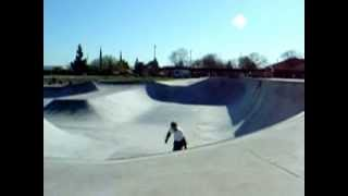 Mark Page Backside Grab Air Ripon Skatepark California