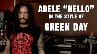 Adele - Hello (In the Style of Green Day)