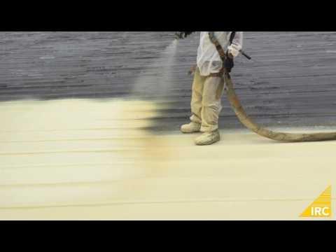 Spray Foam over Metal Panel Roof - Application Process