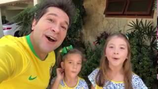 Mostra tua força Brasil! Daniel, Lara e Luiza!