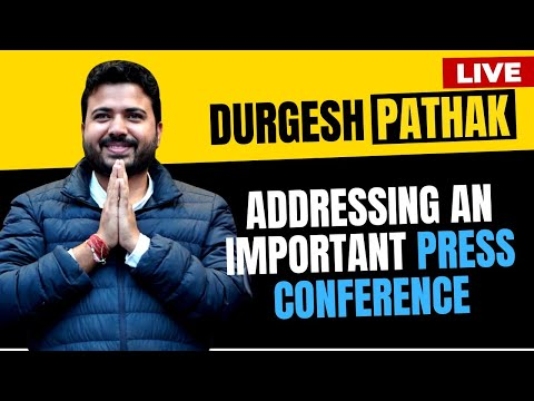 AAP MCD Prabhari Shri Durgesh Pathak addressing an important press conference | Live