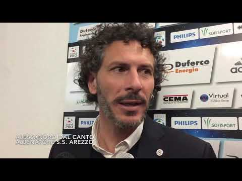 Entella-Arezzo 2-1, intervista a mister Dal Canto