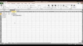 Pulling out the Year and Month from a Date in Excel
