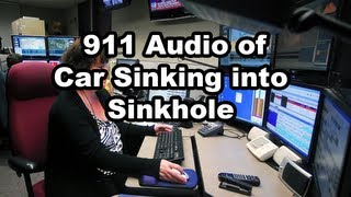 911 Audio of Road Washout with Vehicle Stuck - Montague, Michigan