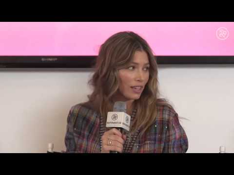 Jessica Biel Live with Refinery29 chatting Sex Positive, Body Positive and Tryst Network