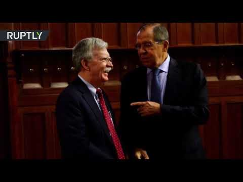 Trump's security advisor Bolton meets with Lavrov in Moscow (STILLS)