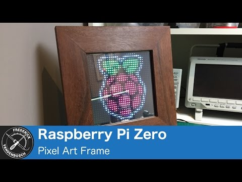 Use A Raspberry Pi Zero To Power A Pixel Art Frame