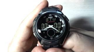Casio Men s AQ160W 1BV Ana Digi Stainless Steel Watch with Black Band