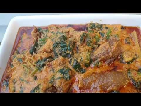 How to make Egusi soup with spinach