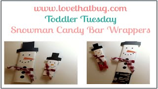 Snowman Candy Bar Wrappers