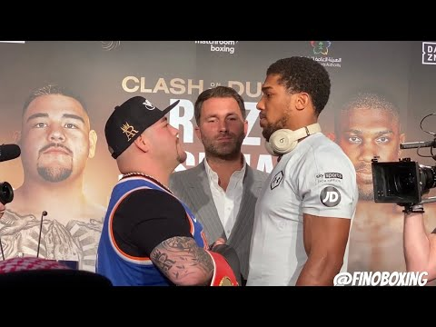 """""""AND STILL"""" ANDY RUIZ SAVAGELY TELLS JOSHUA ON HE'S FACE"""