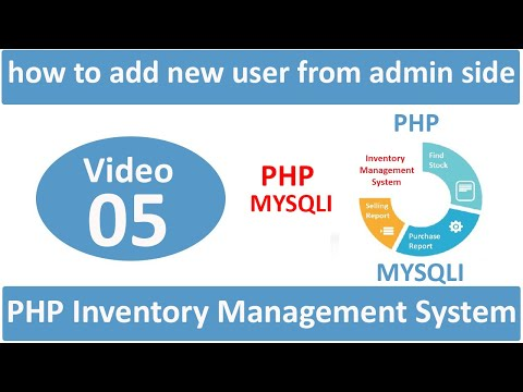 how to add new user from admin side in php ims