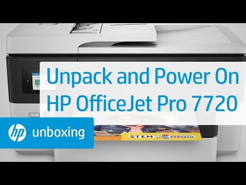 Unboxing, Setting Up, and Installing the HP OfficeJet Pro 7720 Printer