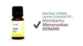 Lemon Essential Oil Essenzo Untuk Turunkan demam 10 ml