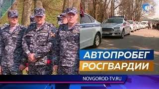 Великий Новгород посетили участники автопробега Росгвардии «Вахта Памяти»