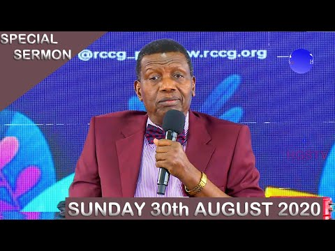 RCCG Sunday Service 30th August 2020 by Pastor E. A. Adeboye – Livestream