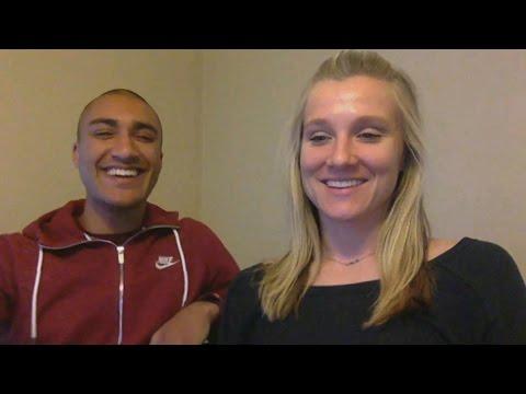 Brianne Theisen-Eaton and Ashton Eaton on their retirement